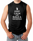 Keep Calm And Build A Snowman - Christmas Santa Clause Men's SLEEVELESS T-shirt