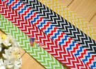 "7/8"" U pick Chevron Printed Grosgrain Ribbon hair Bow 5/10/20Yds 5 designs"
