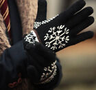 Men's Winter Snowflake Stylish Classic Thermal Knit Ski Gloves Mittens 4 Colors