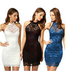 Sexy Lady Woman Lace Sleeveless Slim Package Hip Cocktail Evening Party Dress