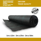 Landscape Fabric- Weed Control 12m,25m & 50m Roll Heavy Duty 40 Year Life 100GSM