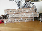 CHRISTMAS SIGN, WOODEN FESTIVE BLOCK PLAQUE - Choices !