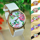 Cheap 1pc Fashion Women Leather Rose Flower Watch Quartz Watches Gift