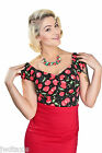 Collectif  Dolores Cherry Polka Pin Up Rock Vintage Retro 50's Style Top 8  & 10