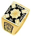 New Men's 10k or 14k Yellow or White Gold Masonic Knights Templar Ring