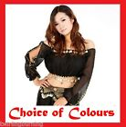 AU size 8-18 Belly Dance Top Bollywood Chiffon Shoulderless Dancing Costume AT05