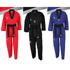 MUDOIN Taekwondo Coloured Suits Uniforms Dobok 3 Color 100 190 V neck Stripe MMA