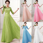 Elegant Sexy Long Bridesmaid Gown Ball Prom Party Evening Formal Cocktail Dress
