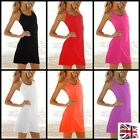 *UK* WOMENS BEACH COVER UP BIKINI SWIMWEAR SARONG FASHION DRESS HALTERNECK