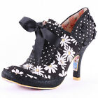 Irregular Choice Georgia Rose Womens Heels Black Floral New Shoes All Sizes