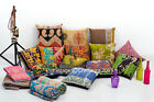 Set of 10 Pillow Cover Throw Kantha Cushion Indian Pillows Gypsy Pillow Boho 16