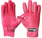 Leather Riding Gloves Soft Driving Wheel Chair Gloves Pink Ladies