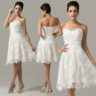 Princess Ivory bridal summer formal evening Party dresses cocktail short Gowns 1