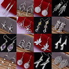 Wholesale! Fashion 925 Silver Sterling Dangle Earrings Ear Studs Women's Jewelry