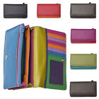 Ladies / Womens High Quality Genuine Leather Multi Colour Matinee Purse