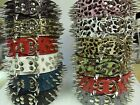"""2"""" wide leather long tooth spike collar, USA Shipper !!!"""