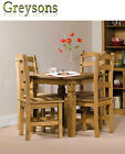 NEW Corona Wooden Solid Pine Square Kitchen Dining Table Set and 2 or 4 Chairs