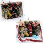 Women Painting Flowers Leather Crossbody Handbag Tote Bags Purse Special