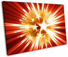 Red Star Explosion Abstract Modern Framed Canvas Wall Art Picture Print