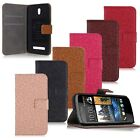 PU Leather Retro Flower Pattern Wallet Purse Case Cover Stand For HTC Desire 500