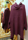 Dairi Moroccan Cowl Neck Bouclé Textured Oversized LongTunic fits M. to 3X