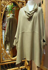 Dairi Moroccan Sousdi Cowl Neck Long Tunic Blouse 2 Pockets Fits Med to. 3X