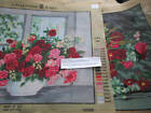 Collection D'Art Rose Bouquet In Vase Needlepoint Canvas Your Choice-15.75x19.75