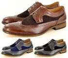 New Mens Casual Formal Lace Up Designer Brogue Fashion Shoes In UK Sizes 6-12
