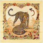 NEW Authentic Hermes Silk Scarf JUNGLE LOVE - Vanilla - Robert Dallet