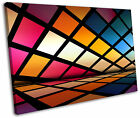 Funky Disco Squares Abstract Framed Canvas Wall Art Picture Print