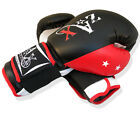 Rex Leather Boxing Gloves Punch Bag Sparring Gloves Mitts MMA PadsADULTS,JUNIORS
