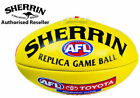 Sherrin Official AFL Replica Game Football - Leather Full Size 5