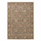 Poeme Hand Tufted Oriental Floral Pattern Area Rug with Border