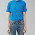 NWT Marc Jacobs Mens Little Flower Aquamarine Blue Shirt XS S M L XL $188