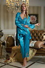 New Green /Yellow silk Blend 3pcs Women Sleepwear/Pajama Sets M/L/XL/2XL