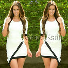 Black/White Womens Fashion Casual Evening Sexy Party Cocktail Prom Dresses S M L