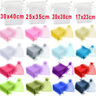 17x23 20x30 25x35 30x40cm Organza Gift Bags Jewellery Pouches Party Candy Favour