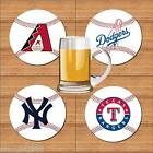 AMERICAN BASEBALL TEAM SOFT FLEXIBLE FABRIC DRINKS COASTER
