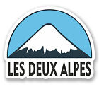 2 x 10cm Les Deux Alpes Snowboard Vinyl Sticker iPad Laptop Luggage Travel #5134