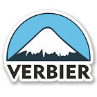 2 x 10cm Verbier Ski Snowboard Vinyl Sticker iPad Laptop Luggage Travel #5147