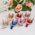 Lovely Girls 3D Crown Bling Imitation Pearls Sweet Hairclip Hair Accessory New