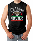 California Republic - Diamond Cali Bear Weed Marijuana Men's SLEEVELESS T-shirt