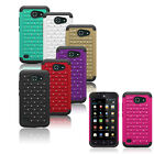 For Huawei Tribute Fusion 3 Y536A1 Hybrid Hard Rugged Bling Diamond Case Cover