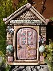 Sparkly Life Can Be a Fairy Tale Fairie Door Garden Ornament Gift