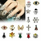 10pcs Fashion Glitters Rhinestone 3d Alloy Nail Art Stickers DIY Decorations OBS