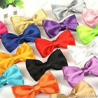 Free shipping NEW FASHION MENS ADJUSTABLE satin WEDDING PROM PARTY BOW TIE