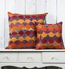 Value Patchwork Funky Stripped Colourful Cushions with Inner (40x40cm or 60x60cm