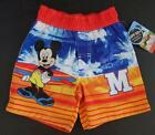 MICKEY MOUSE Boys 24 Mo 2T 3T 4T 5T Shorts SWIM TRUNKS Bathing Suit DISNEY