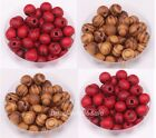 200pcs brown/red color Ball Round Wood Spacer Beads 8mm