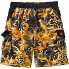 Legendary Whitetails Men's Whitewater Legends Blaze Camo Swim Trunks